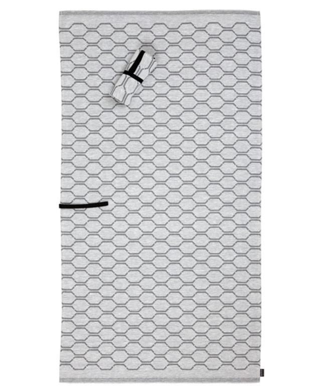 Flat linen roll towel: Nimikko white/grey