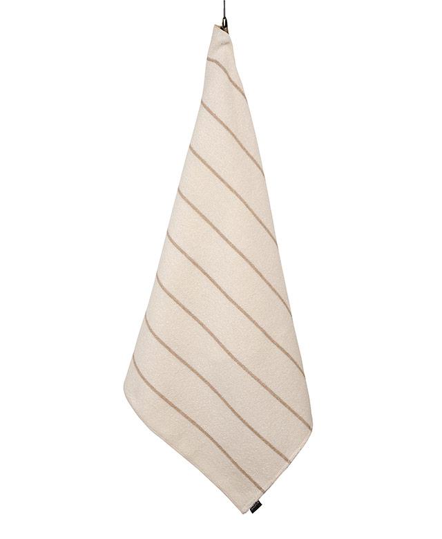 Linen terry towel: Liituraita white