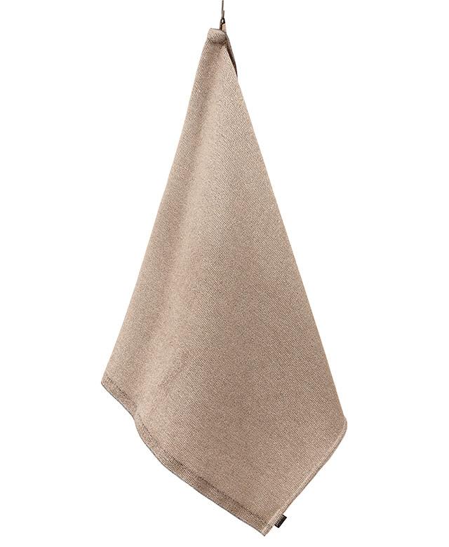 Linen terry towel: Natural/black
