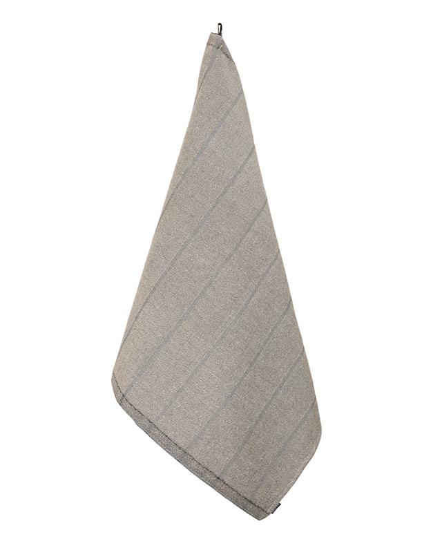 Linen Terry Towel Laituri: Natural/black