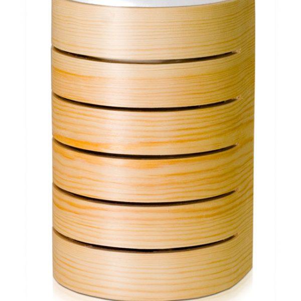 Raita Sauna Light: Half round pine