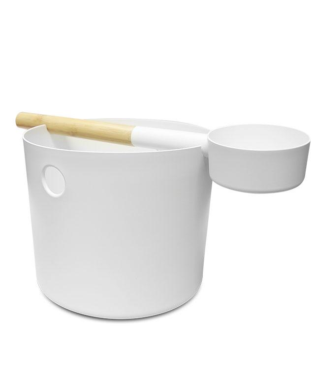 Kolo bucket + ladle set white