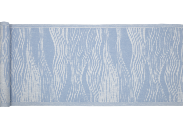 Bench cover: Virta white/light blue