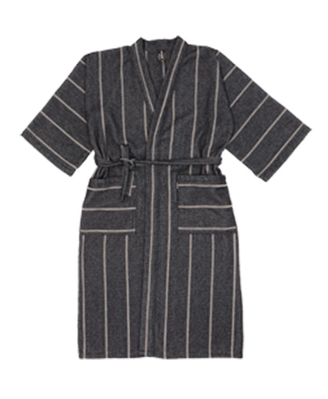 Bathrobe: Liituraita black