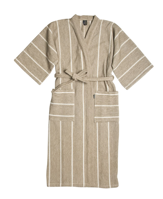 Bathrobe: Liituraita natural