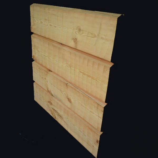 Kelo Sawn Timber: 50mm machine hewn front, totally light front