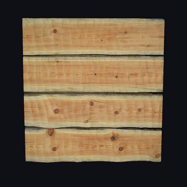 Kelo Sawn Timber: 50mm machine hewn, grey on the front surface
