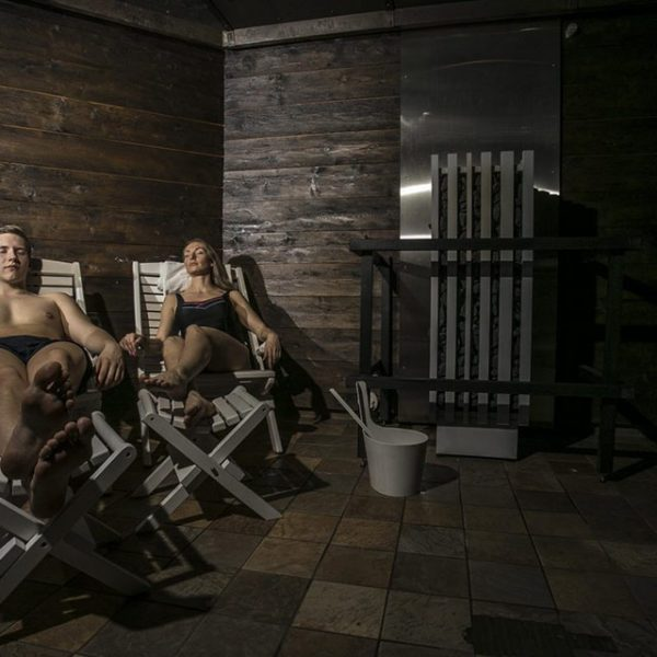 Sauna chairs and loungers