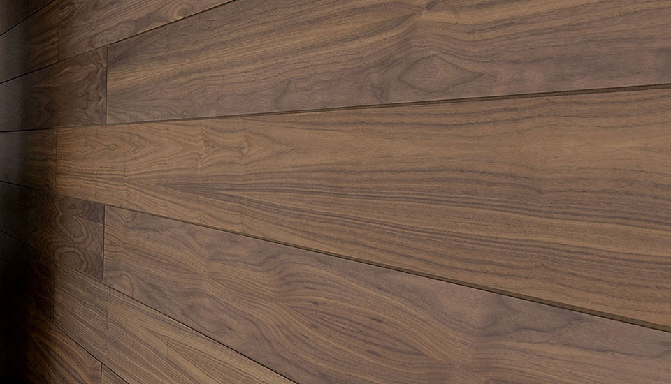 Sauna panels walnut