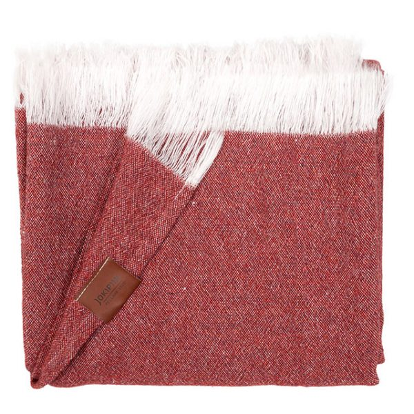 Throw blanket granite brick red