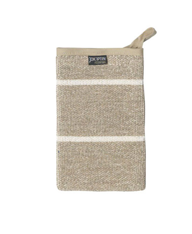 Wash mitt: Liituraita natural